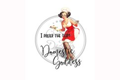 Domestic Goddess, Funny Towel Pun, Sublimation Kitchen Product Image 1