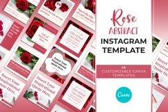 Rose Abstract Instagram Canva Template Product Image 2