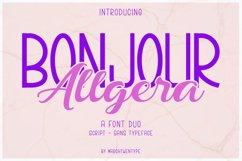 Bonjour Allgera - Font Duo Product Image 1