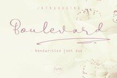 Boulevard - Handwritten Font Duo Product Image 2
