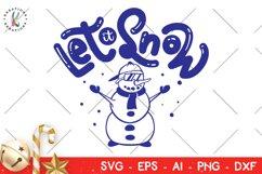 Christmas svg Let it Snow svg Snowman Product Image 1