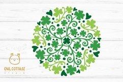 St Patricks Day Clover Mandala SVG, Shamrock Mandala Svg Product Image 2