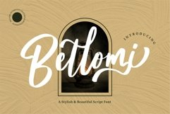 Bellomi - A Stylish & Beauty Script Font Product Image 1