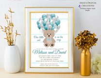 Teddy Bear Baby Shower Invitation, Digital File, Instant Product Image 5