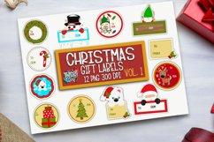 Christmas Gift Tag Sticker Bundle - Sticker PNG Product Image 1