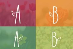 Web Font Lily Bloom Flowery Font Product Image 2