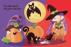 CRAZY HALLOWEEN Hand Drawn Flat Style Vector Set Product Image 6