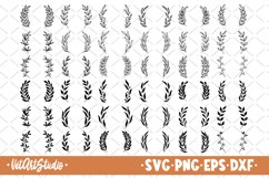 36 Leaf wreaths svg, floral frame svg Product Image 1