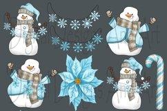 Blue snowman clipart Product Image 6