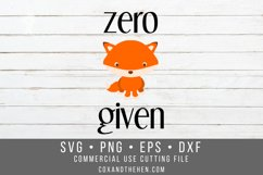 Zero Fox Given SVG Product Image 1
