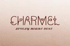 Charmel Love font. Valentine's Day Font. Lovely Heart font. Product Image 2