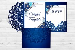 Rustic wedding invitation template, Svg files for cricut Product Image 2