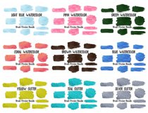 Brush Strokes Background Bundle Glitter & Watercolor PNG Product Image 3