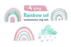 Rainbow Illustration Boho Clip Art Product Image 1