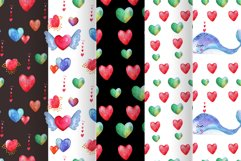 Love forest watercolor set with patterns, cards, wreaths Product Image 2