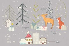 Christmas animals clipart Product Image 3