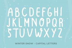 Winter Snow | Fun winter font Product Image 5