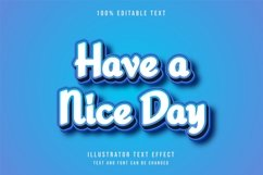 Have a nice day,3d Editable - Text Effect Product Image 1
