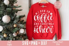 I Run On Coffee And Christmas Cheer SVG Product Image 1