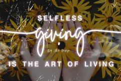 Giving - Script Font Product Image 1