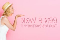 Web Font Blow A Kiss - A Hand-Lettered Valentine's Day Font Product Image 1