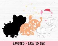 Christmas Corgi SVG cut file Cute Funny Dog Christmas Lights Product Image 2