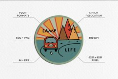 Van life Graphic. Two round logos in doodle style Product Image 3