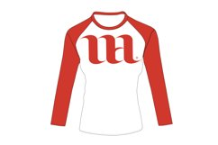 Raglan Women's Short Sleeve Shirt - Vector Mockup Template Product Image 4