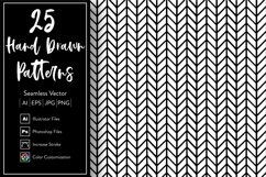 25 unique Hand Drawn Patterns Product Image 1