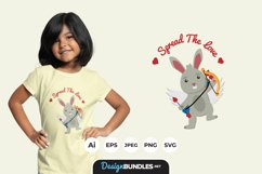 Rabbit Cupid Illustrations for T-Shirt Design Product Image 1