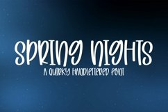 Web Font Spring Nights - A Quirky Handlettered Font Product Image 1