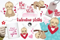 Valentine sloths graphics and illustrations Product Image 1