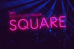 Night Light Neon Font - square Product Image 1