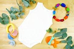 Baby Wear Sleeveless Onesie Bodysuit Mockup Styled Photo Product Image 2
