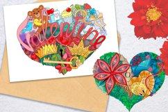 Hearts zentangle Product Image 5