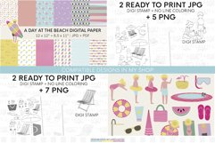 Beach clipart set   Summer vacations at the beach Product Image 3