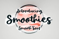 Smoothies - Smooth Font Product Image 1