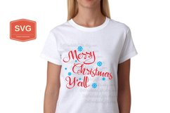 Merry Christmas Y'all Xmas printing files PNG Product Image 6