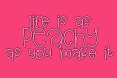 Peach Punch - A Fun Mixed Height Print Font Product Image 2