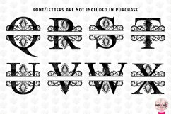 Traditional Split Monogram - Alphabets A to Z EPS SVG DXF Product Image 4