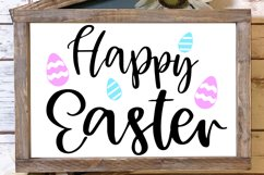 happy easter svg, easter egg svg, easter decor svg Product Image 4