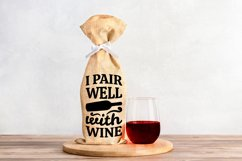 Wine Bag SVG Bundle, Christmas Wine SVG files for Cricut Product Image 5