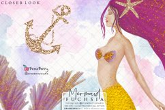 Pink Mermaid Clipart Glam Undet the Sea | Drawberry CP019 Product Image 2