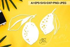 lemons svg summer svg fruits svg papercut template svg png Product Image 1