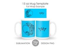 11 oz mug template, 15 oz mug template Product Image 4