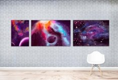 Space Poster. Three Watercolor Backgrounds Product Image 2