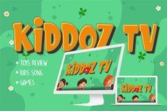 Kids Zone // Layered Font Product Image 4
