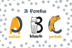 Cats cute OTF color font Product Image 3