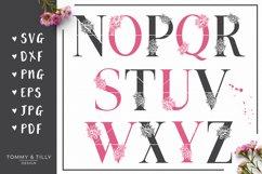 A-Z Floral Letters Bundle - SVG DXF PNG EPS JPG PDF Cut File Product Image 3