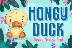 Quirky Shadow Font - Honey Duck Product Image 1